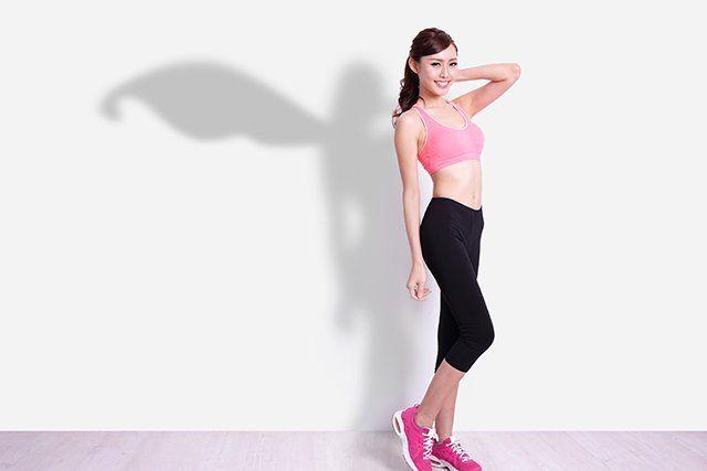 Giovane sana e in forma