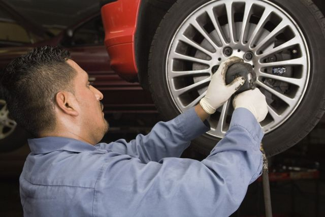 Fitting a new wheel to a car