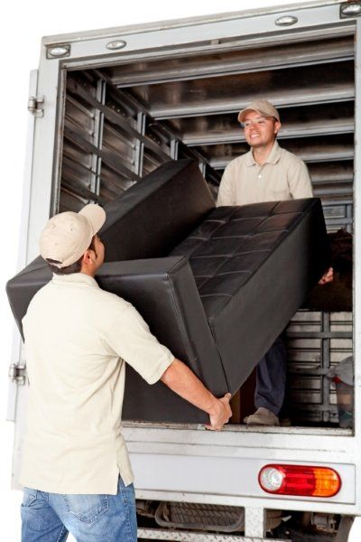 Men working for a moving services