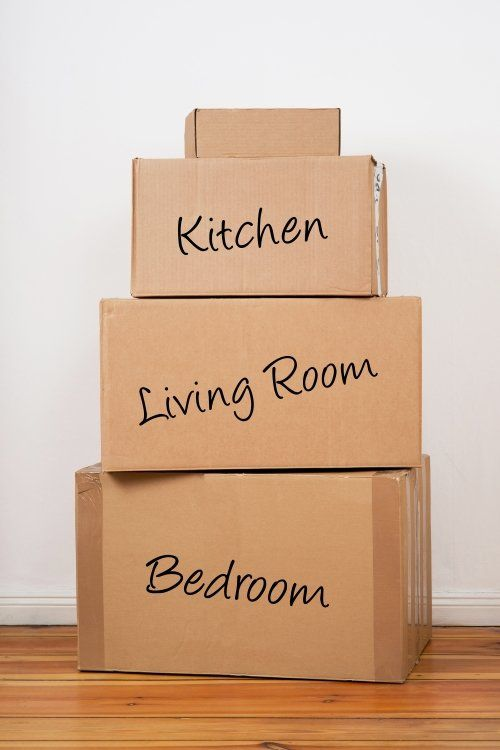 Set of package labeled Kitchen