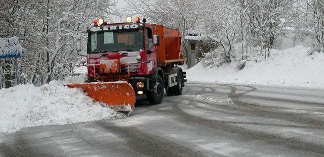 un camion con una pala spala neve
