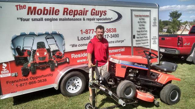 Chris henson on site service mowers snow blowers for Small motor repair shop