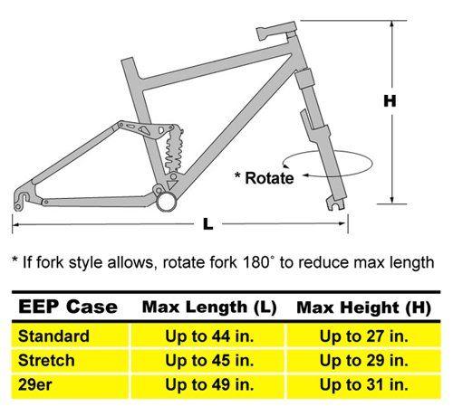 Mountain Bike Bag Sizing Chart