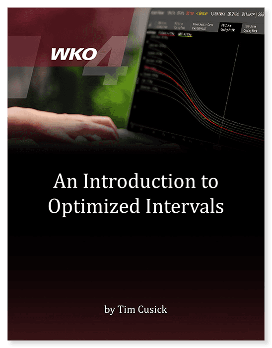 Introduction to Optimized Intervals in WKO4 eBook