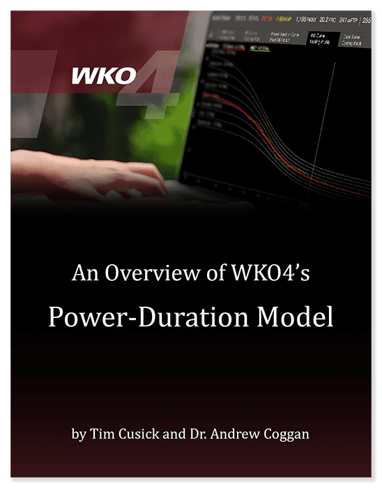 Overview of WKO4's Power-Duration Model