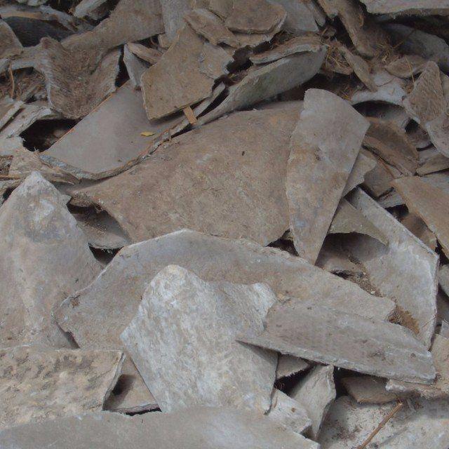 asbestos roofing waste