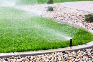 lawn being watered