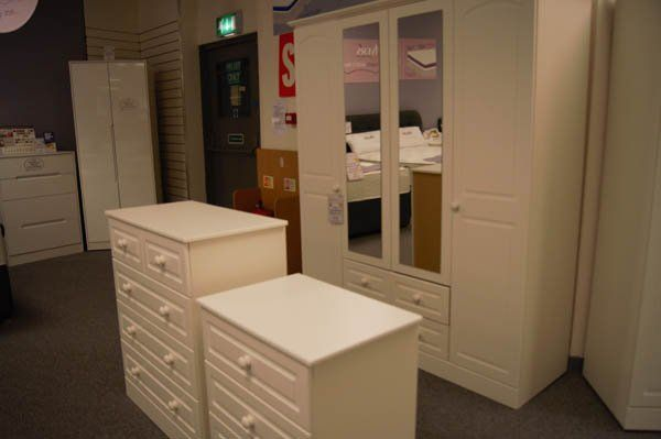 View of a Kitchen cabinet furniture options at Clements