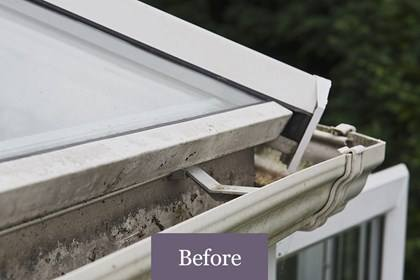 gutter to be cleaned