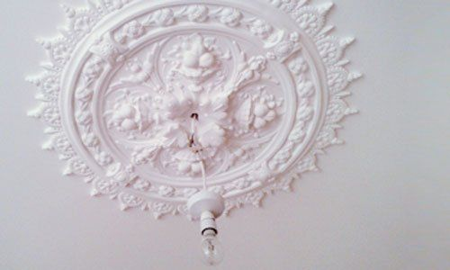 We install beautiful ceiling roses, for homes in Oswestry