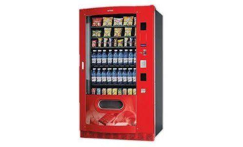 distributore automatico rosso