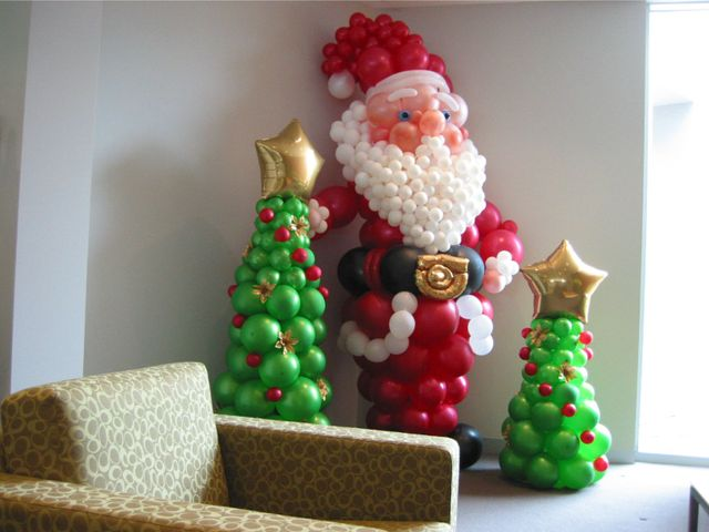 christmas balloons - Christmas Balloon Decor