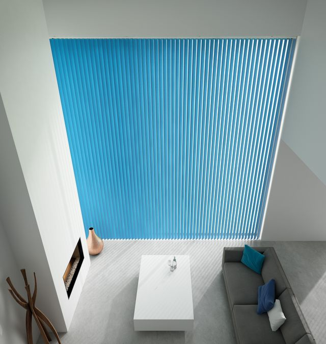 Blue Vertical Blinds 89mm