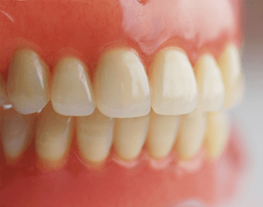 A close up of a pair of dentures