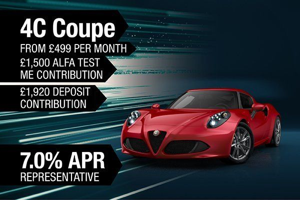 Alfa Romeo 4C Coupe From £499 Per Month