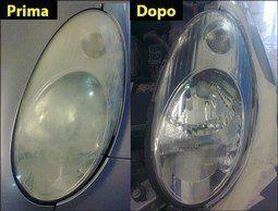 luci prima e dopo il trattamento