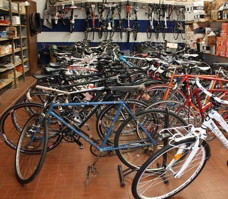 biciclette sportive in esposizione