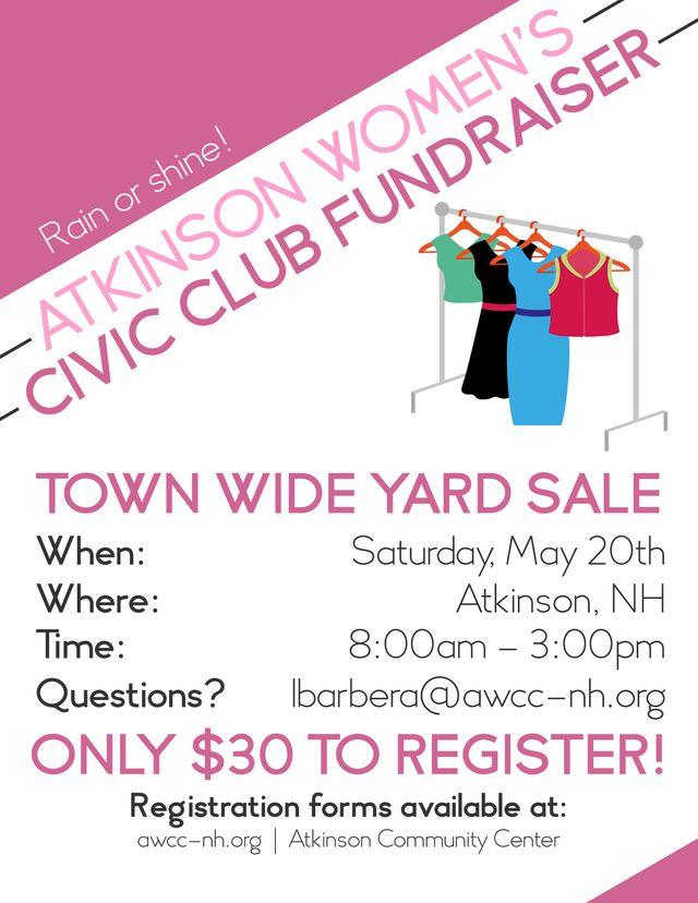 Spring 2017 Town Wide Yard Sale