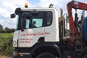 J W Haulage Grab Hire truck