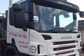 Grab hire truck