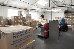 Plastic product warehouse