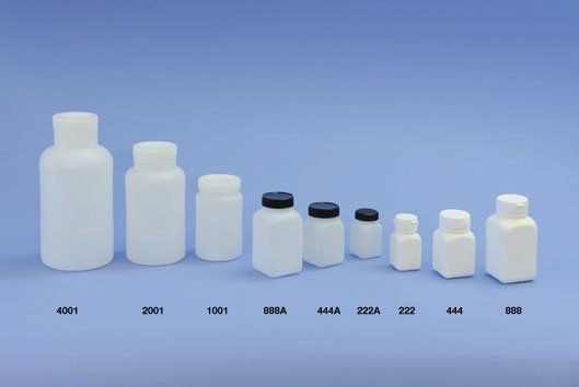 Round and square bottles