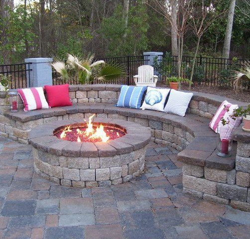 Paver patio with seating and fire pit in St. Charles MO