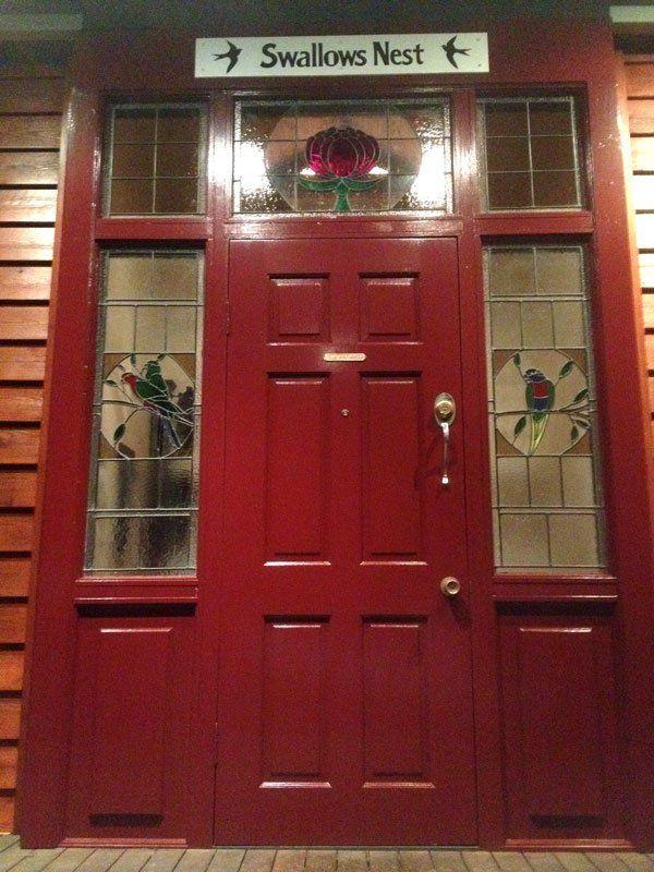 Swallows Nest Red Front Door