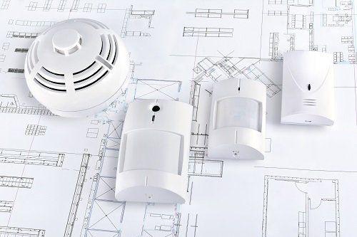 sistema di allarme su progetto di casa