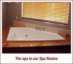 Tub for spa in the spa room