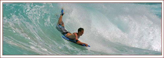 Individual surfing in high waves