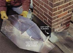 Flashing repair services of chimney in New Braunfels