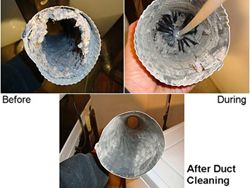 Dryer and vent cleaning before and after