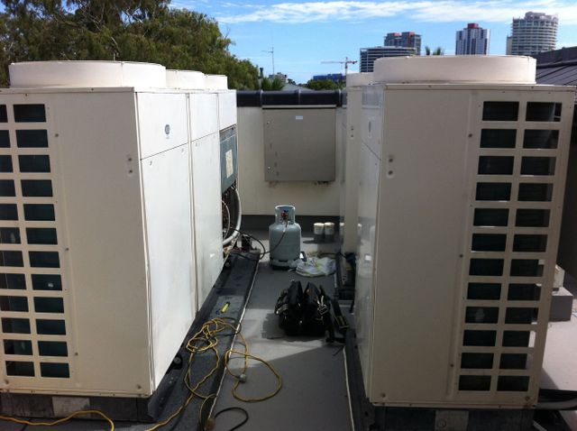 Installed cooling system of an air conditioning for homes and commercial buildings