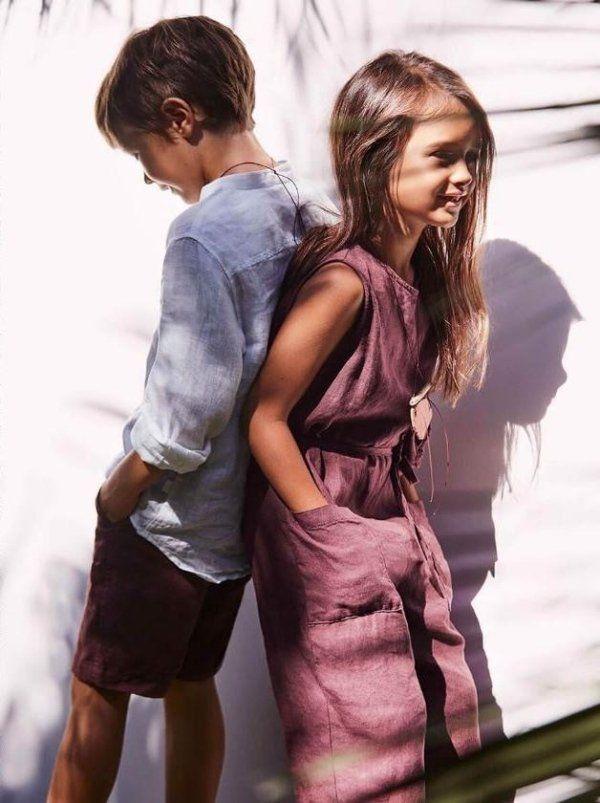 Foto pubblicitaria di vestiti per bambini