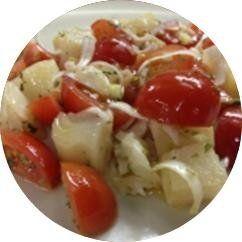 mezzemaniche con pomodoro ciliegino