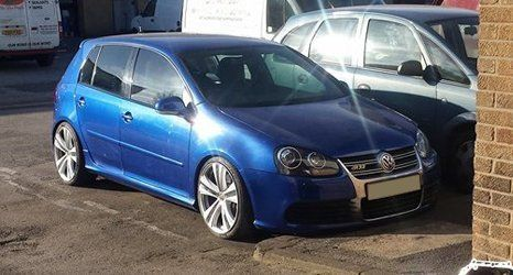 Volkswagen blue car