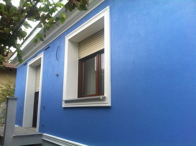facciata casa blue