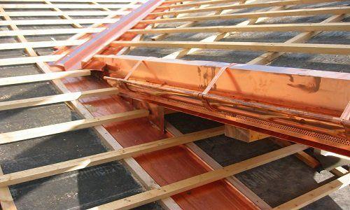 Dettaglio di copertura di tetti in rame