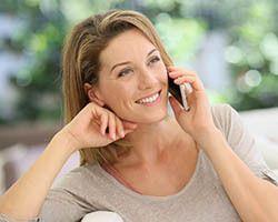 Calling her boyfriend