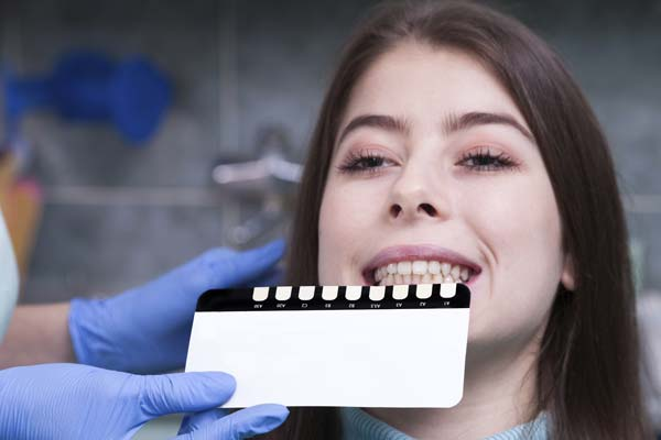 Dental Color Chart Whitening Cosmetic Dentistry
