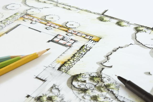 Designed landscape drawings in St. Louis MO