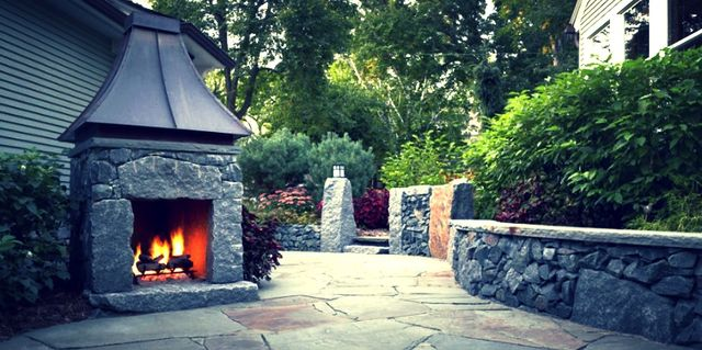Fire Pits & Outdoor Fireplaces, Previous Project of landscapes built by professionals in ST Charles & ST Louis, MO