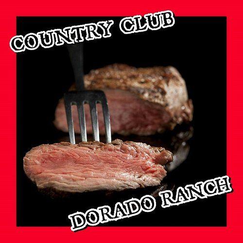 una forchetta con della carne e la scritta Country Club Dorado Ranch