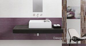 purple coloured wall design
