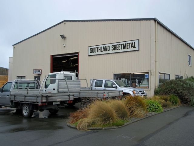 Exterior of sheetmetal business in Invercargill