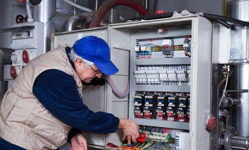 Professional doing the repair work