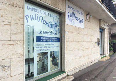Vista esterna dell'impresa di pulizie Pulifloriana a  San Benedetto del Tronto