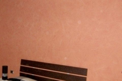 parete tinteggiata in una sorta di rosa antico