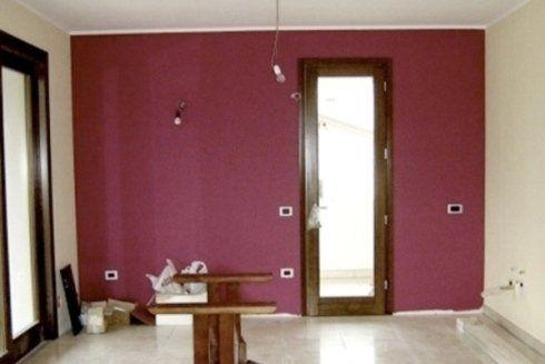 camera d'appartamento in ristrutturazione